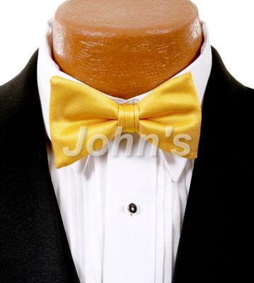 Saffron Simply Solid Bow Tie