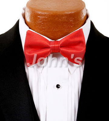 Sun Coral Simply Solid Bow Tie