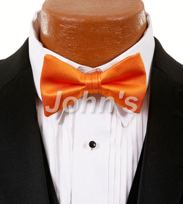Tangerine Simply Solid Bow Tie