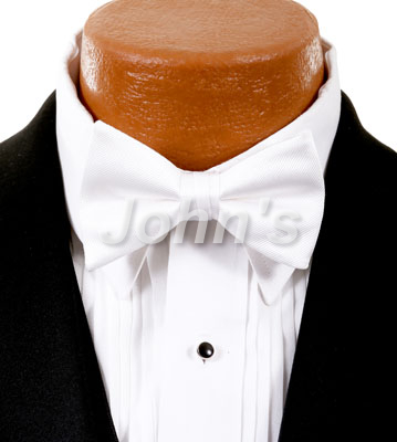 White Simply Solid Bow Tie