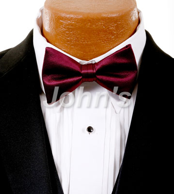 Wine Simply Solid Bow Tie
