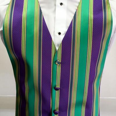 Mardi Gras Brick Vest and Bow Tie Rental