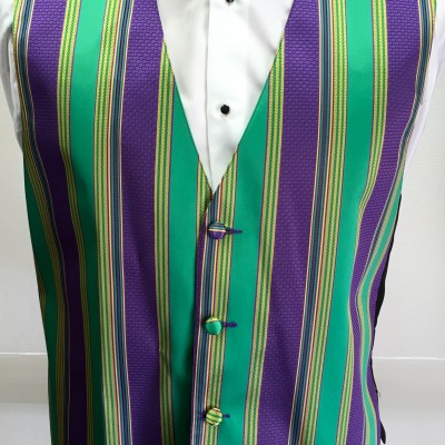 Mardi Gras Brick Vest and Bow Tie Retail