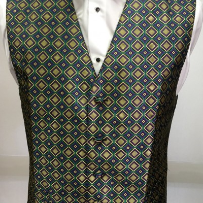 Mardi Gras Square Vest and Bow Tie Retail