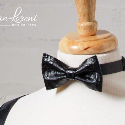 Black Gator Bow Tie