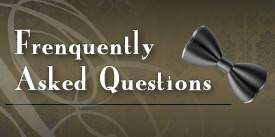 FAQ graphic for men's clothing store John's Tuxedos in New Orleans, LA