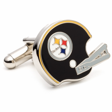 Retro Pittsburgh Steelers Helmet Cufflinks