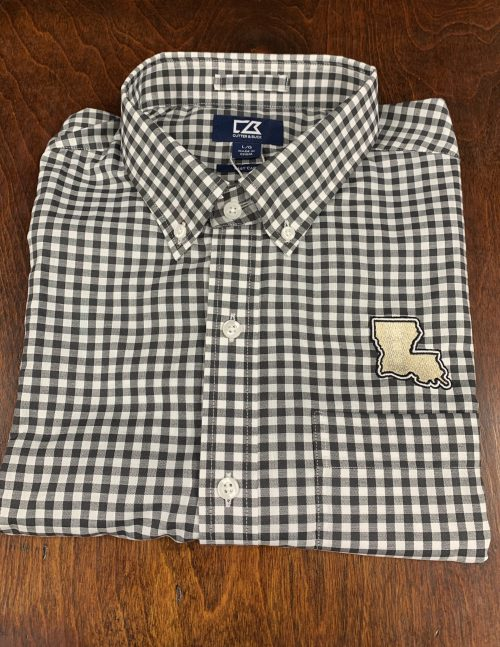 Black & Gold Louisiana Gingham