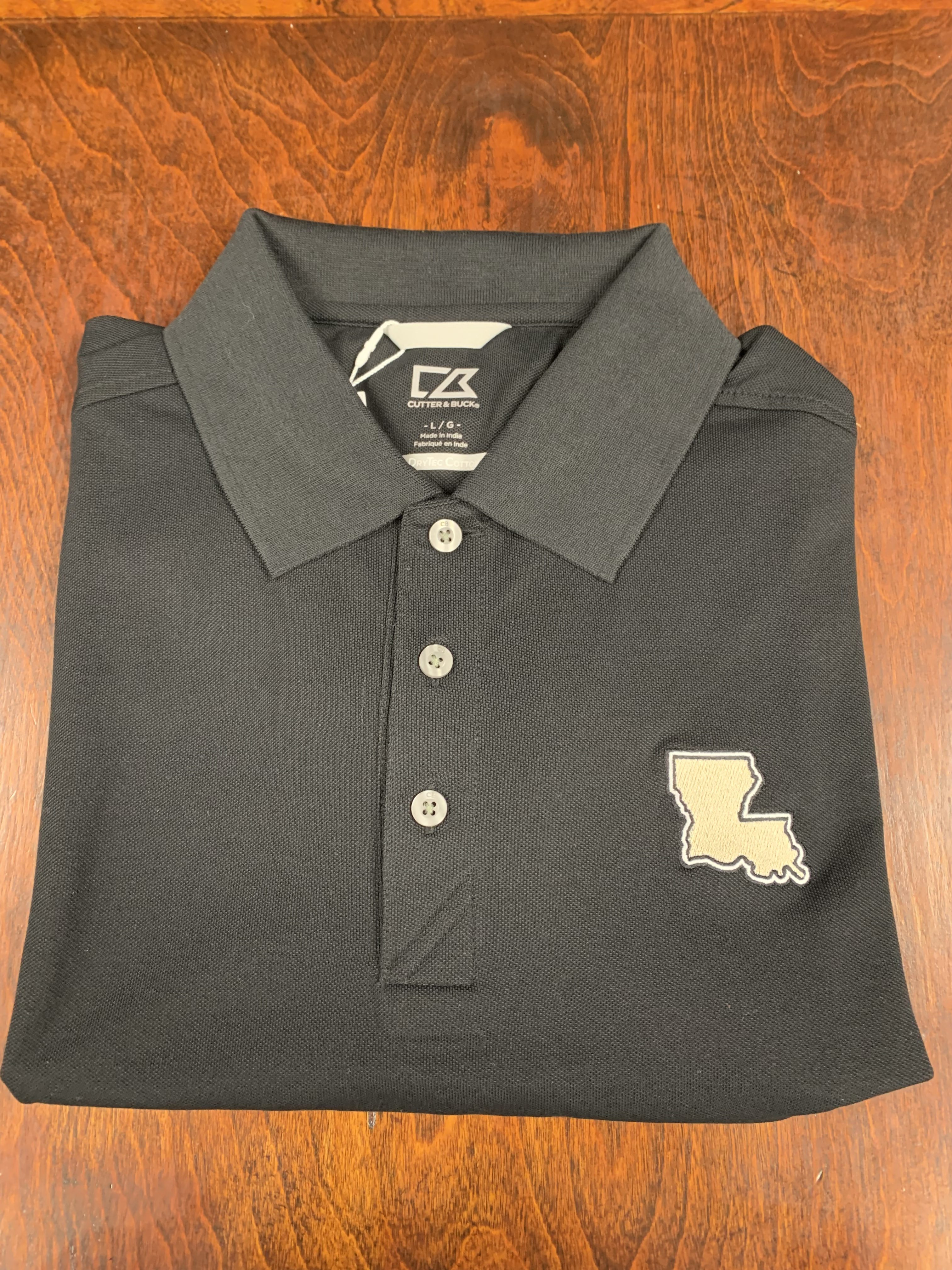 Black & Gold Louisiana Polo
