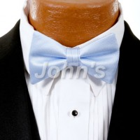 Lt. Blue Simply Solid Bow Tie