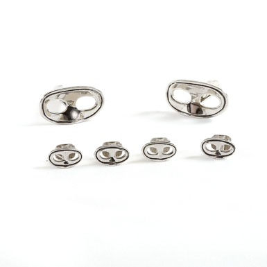Mardi Gras Mask Silver Stud and Cufflink