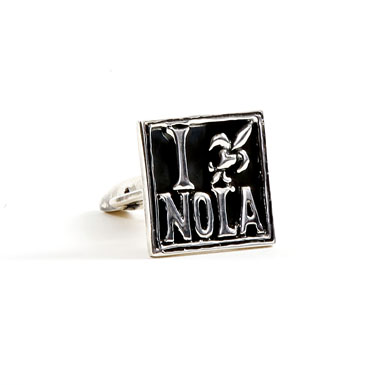 I Love NOLA Sterling Cufflinks