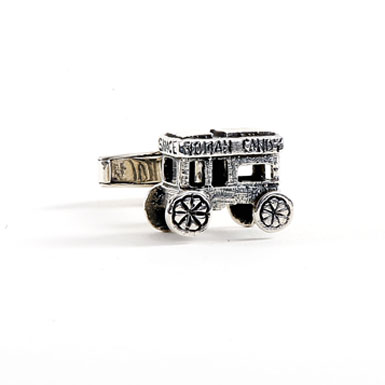 Roman Candy Stand Sterling Cufflink