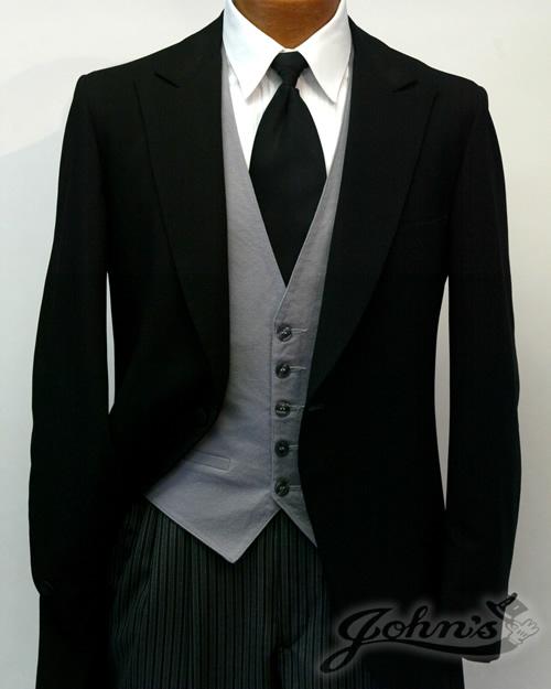 Black Cutaway Lord West Tuxedo
