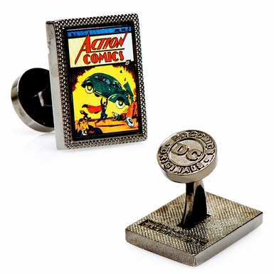 Superman First Issue Comic Cover Cufflinks