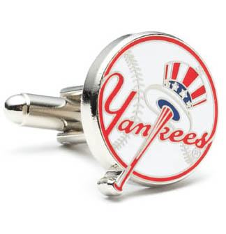 Yankees Baseball Cufflinks