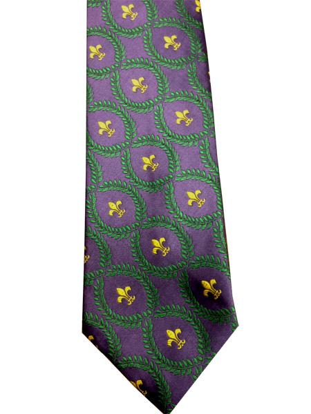 Mardi Gras Fleur di Lis Neck Tie
