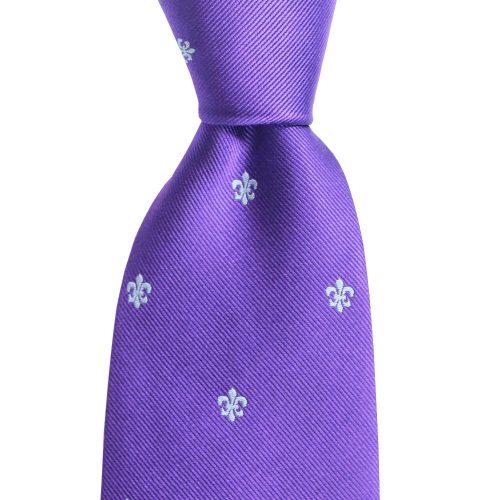 Fleur de Lis Woven Regal Purple