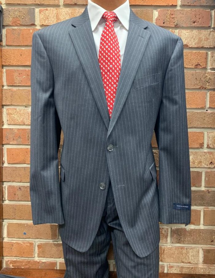 Tommy Hilfiger Grey Stripe Suit