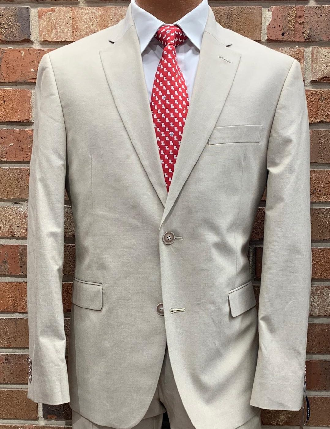 Tommy Hilfiger Khaki Chambray Suits