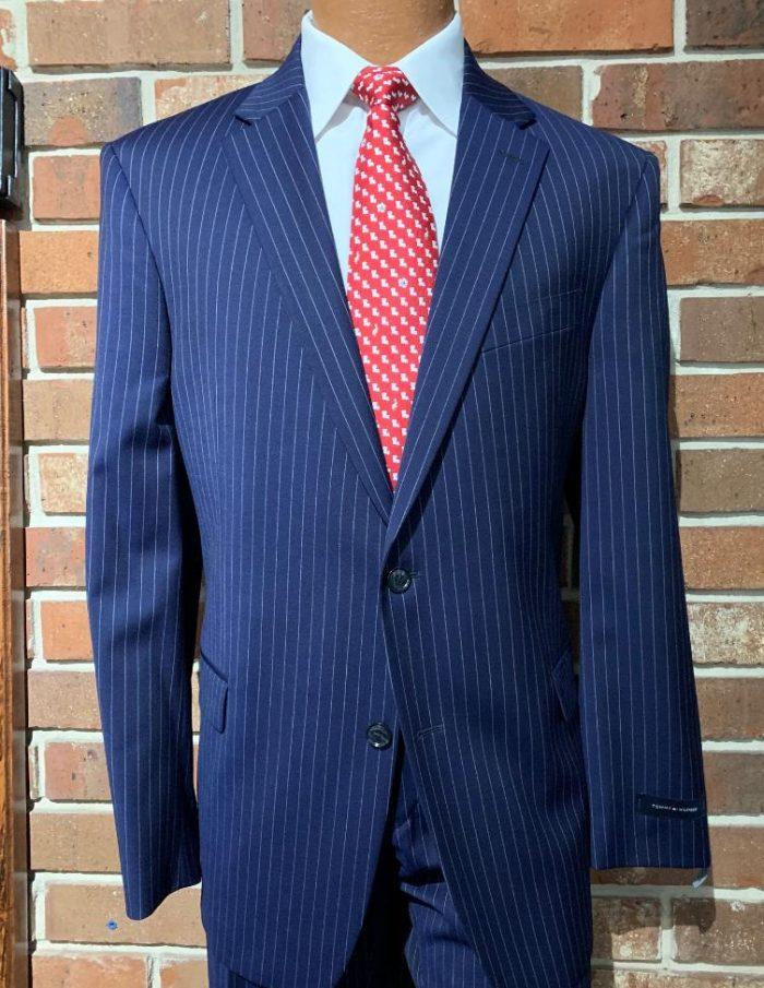 Tommy Hilfiger Navy Stripe Suit