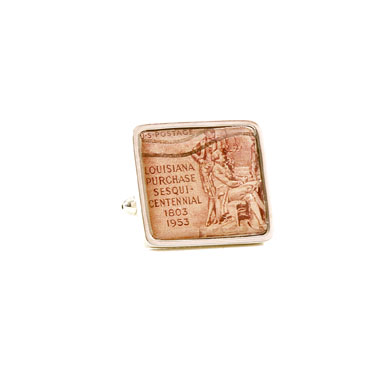 Louisiana Purchase Stamp Cufflinks