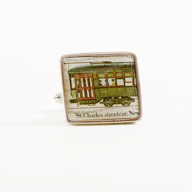 Streetcar Stamp Cufflinks