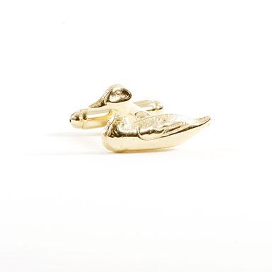 Gold Mallard Cufflinks