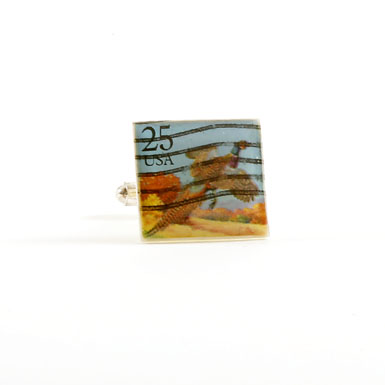 Pheasant Stamp Cufflinks