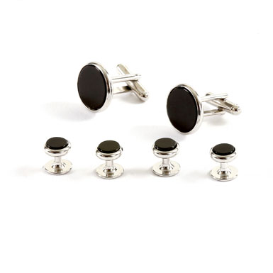 Black & Silver Onyx Set
