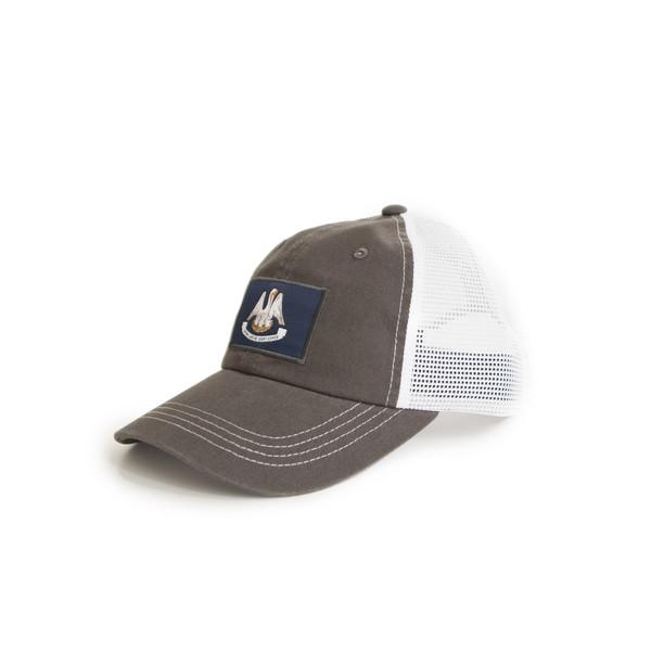 Louisiana Flag Trucker Hat Charcoal