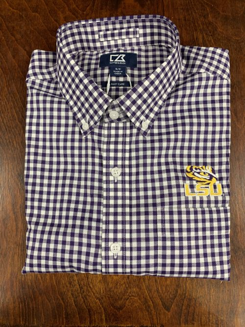 Purple LSU Gingham