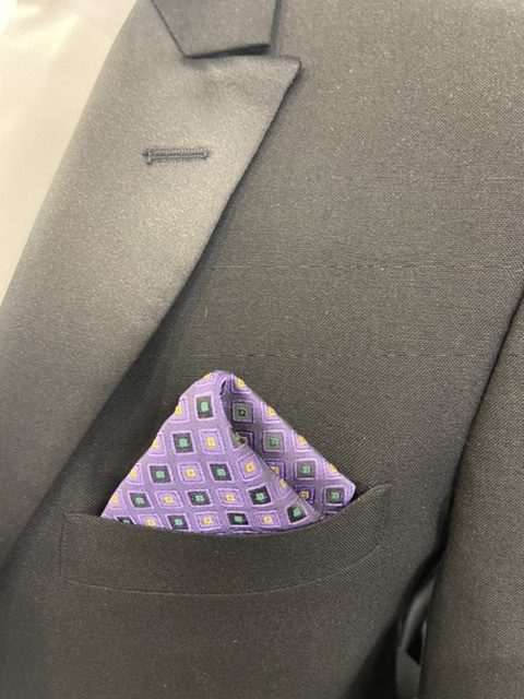 Mard Gras Jewel Pocket Square