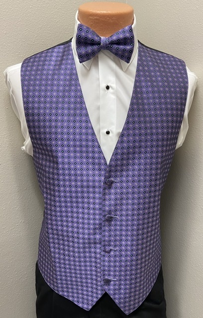 Mardi Gras Jewel Vest and Bow Tie