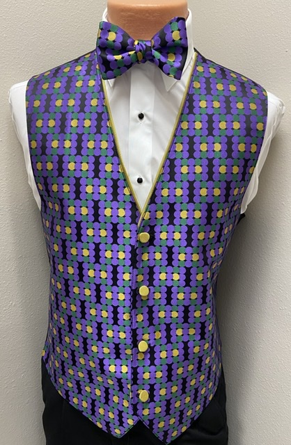 Mardi Gras Maison Vest and Bow Tie
