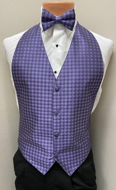 Mardi Gras Jewel Vest and Bow Tie