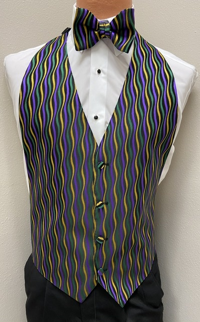 Mardi Gras Jazz Vest and Bow Tie