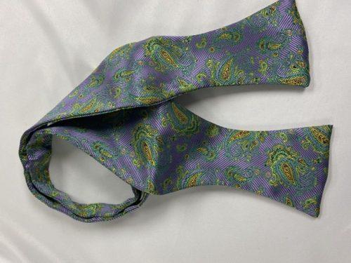 Mardi Gras Storm Self Bow Tie