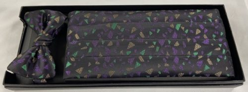 Mardi Gras Gem Cummerbund and Bow Tie