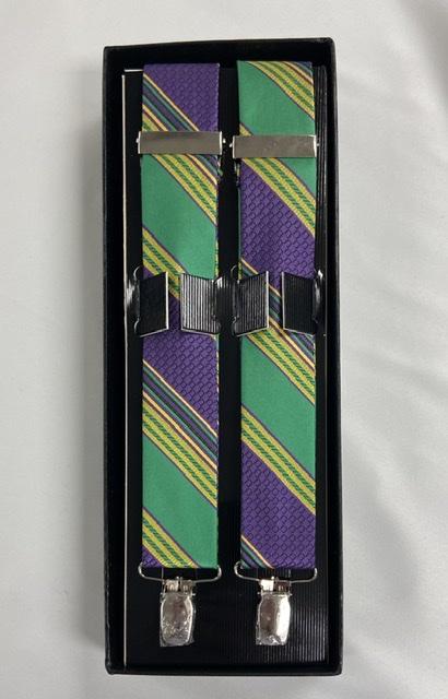Mardi Gras Brick Suspenders