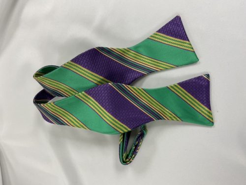 Mardi Gras Brick Self Bow Tie