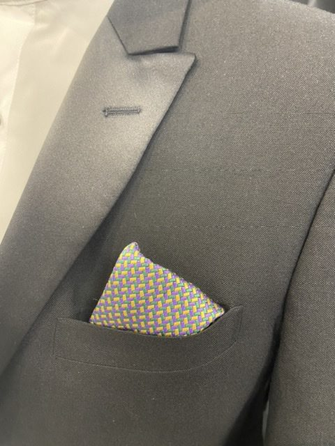 Mard Gras Geometric Pocket Square