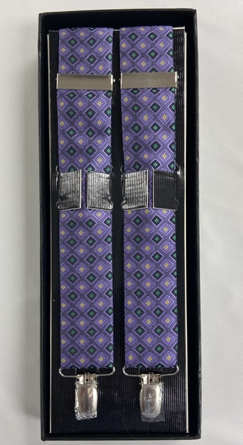 Mardi Gras Jewel Suspenders