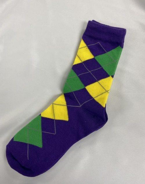 Mardi Gras Argyle Sock