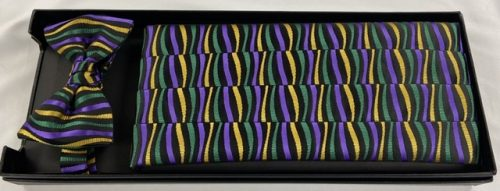 Mardi Gras Jazz Cummerbund and Bow Tie