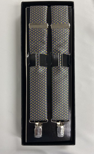 Mardi Gras Geometric Suspenders