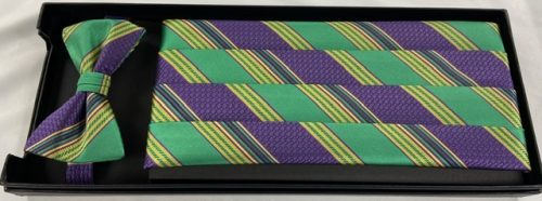 Mardi Gras Brick Cummerbund and Bow Tie