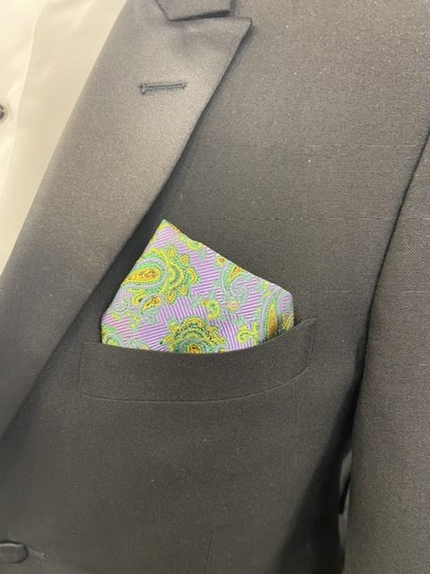 Mard Gras Storm Pocket Square