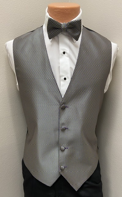 Mardi Gras Geometric Vest and Bow Tie