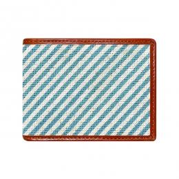 Smathers & Branson Blue Seersucker Bi-Fold Wallet